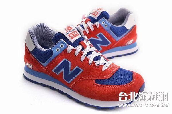 new balance 2013新款 574款透氣時尚男鞋 紅藍色