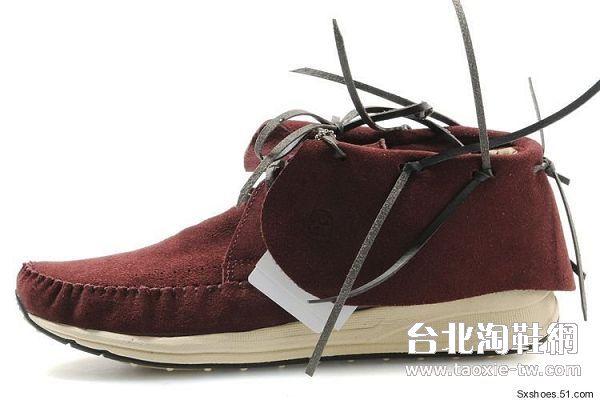 visvim 帆船鞋 酒红色男鞋fbt系列