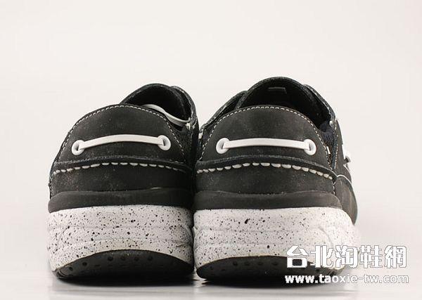 帆船鞋 黑白低筒男鞋