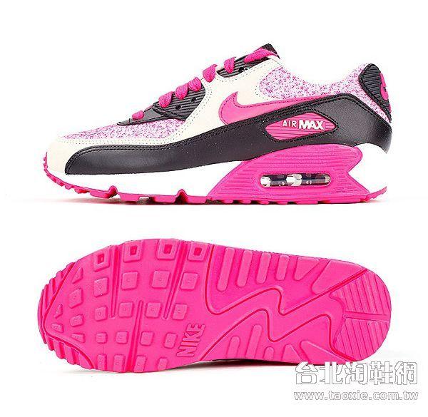 耐克max90粉红色