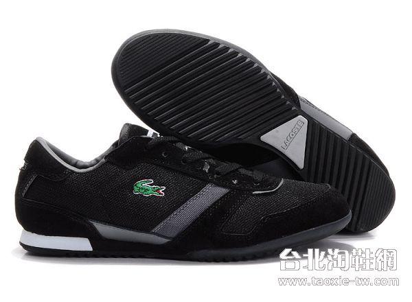 lacoste鳄鱼牌 男鞋 黑棕色棕