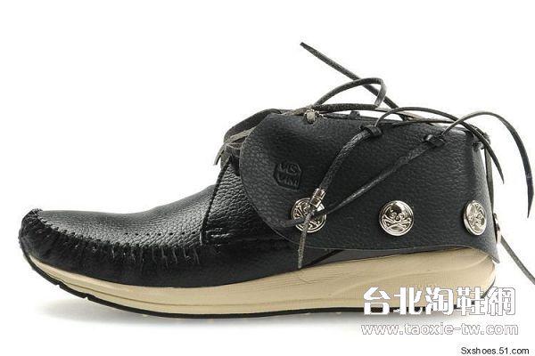 visvim 帆船鞋 黑色铁扣男鞋fbt系列