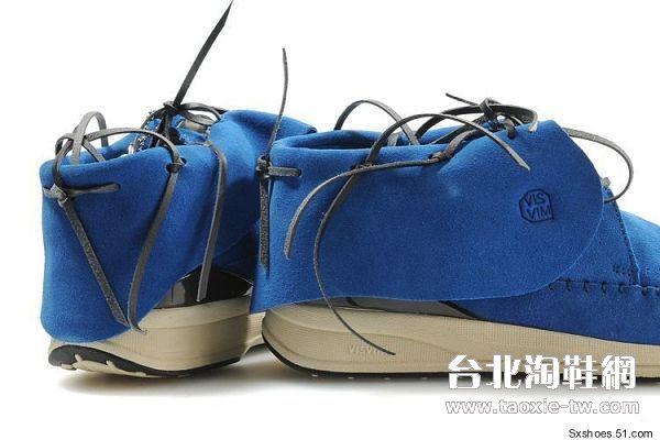 visvim 帆船鞋 蓝色男鞋fbt系列